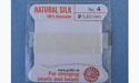 Natural Silk Bead Cord - White - No.4 Diameter - 2 Meters