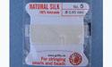 Natural Silk Bead Cord - White - No.5 Diameter - 2 Meters