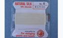 Natural Silk Bead Cord - White - No.6 Diameter - 2 Meters