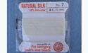 Natural Silk Bead Cord - White - No.7 Diameter - 2 Meters
