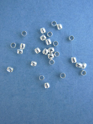 2mm Silver Plated Crimp Beads 25gm pk