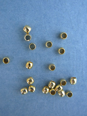 2.5mm Gold Plated Crimp Beads 1.5gm pk