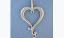Beaded Heart Pendant - Lead Free Pewter