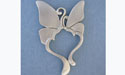 Two Butterflies Pendant - Lead Free Pewter