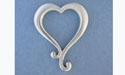 Plain Dangle Heart Pendant - Lead Free Pewter