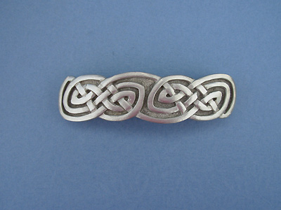 Rounded Knot 3 Barrettes - Lead Free Pewter""