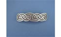 """Rounded Knot 3 Barrettes - Lead Free Pewter"""""""