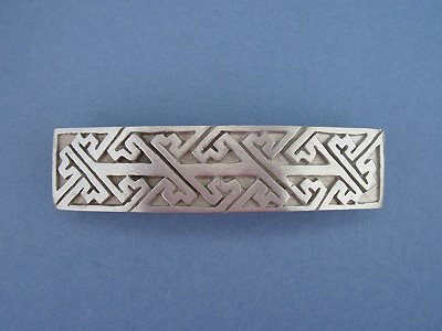 Rectangular Knot 3 Barrettes - Lead Free Pewter ""