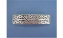 """Rectangular Knot 3 Barrettes - Lead Free Pewter """""""