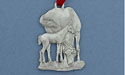 Mare & Foal Grazing Christmas Ornament - Lead Free Pewter