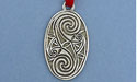 Celtic Friendship Oval Christmas Ornament - Lead Free Pewter