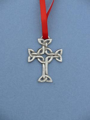 Celtic Lendlefoot Christmas Ornament - Lead Free Pewter