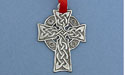Celtic Meditation Cross Christmas Ornament - Lead Free Pewter