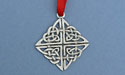Celtic Rosemarkie Knot Christmas Ornament - Lead Free Pewter