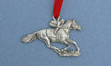 Jockey Christmas Ornament - Lead Free Pewter