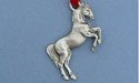 Rearing Horse Christmas Ornament - Lead Free Pewter