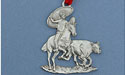 Rodeo Christmas Ornament - Lead Free Pewter