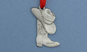 Hat & Boots Christmas Ornament - Lead Free Pewter