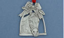 Horse in Stirrup Christmas Ornament - Lead Free Pewter