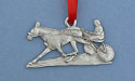 Sulky & Rider Christmas Ornament - Lead Free Pewter