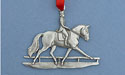 Dressage Christmas Ornament - Lead Free Pewter