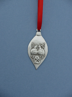 2nd Day of Christmas Ornament - Lead Free Pewter