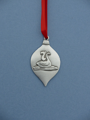 7th Day of Christmas Ornament - Lead Free Pewter