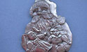 Santa w/ Bunny Christmas Ornament - Lead Free Pewter