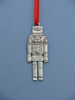 Tin Solider Christmas Ornament - Lead Free Pewter