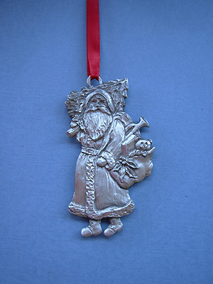 Saint Nick Christmas Ornament - Lead Free Pewter