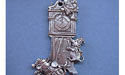 Grandfather Clock w/ Mice Christmas Ornament - Lead Free Pewter