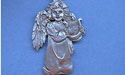 Angel w/ Lyre Christmas Ornament - Lead Free Pewter