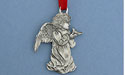Angel w/ Bird Christmas Ornament - Lead Free Pewter