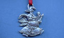 Rabbit Christmas Ornament - Lead Free Pewter