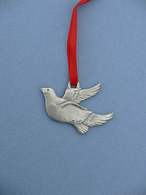 Peace Dove Christmas Ornament - Lead Free Pewter