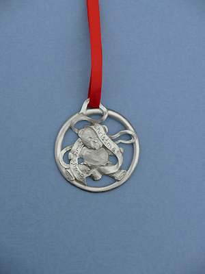 Baby's First Christmas Ornament - Lead Free Pewter