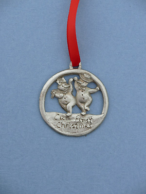 Our First Christmas Ornament - Lead Free Pewter