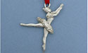 Ballerina Christmas Ornament - Lead Free Pewter