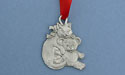 Cat & Teddy Christmas Ornament - Lead Free Pewter