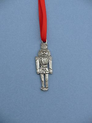 Nutcracker Christmas Ornament - Lead Free Pewter