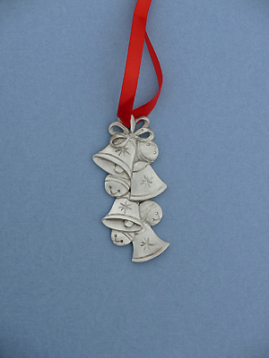Jingle Bells Christmas Ornament - Lead Free Pewter