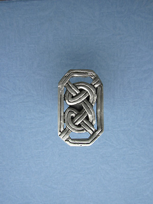 Rectangular Celtic Drawer Knob - Lead Free Pewter