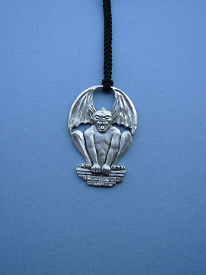 Gargoyle Door Knob Hanger - Lead Free Pewter