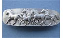 Horses Drawer Pull - Lead Free Pewter