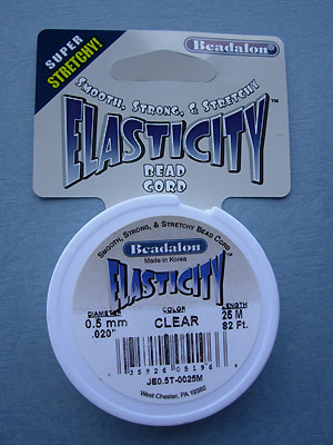 .5mm Clear Elasticity 25M per roll