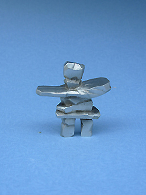 Large Inukshuk Figurine - Lead Free Pewter