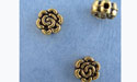 Floral Bead - Gold Plt. - Base Metal
