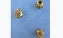 Floral Barrel Bead - Gold Plt.-  Base Metal
