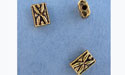 Fancy Rectangular Bead - Gold Plt. - Base Metal