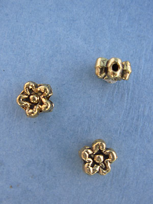 Flower Bead - Gold Plt. - Base Metal